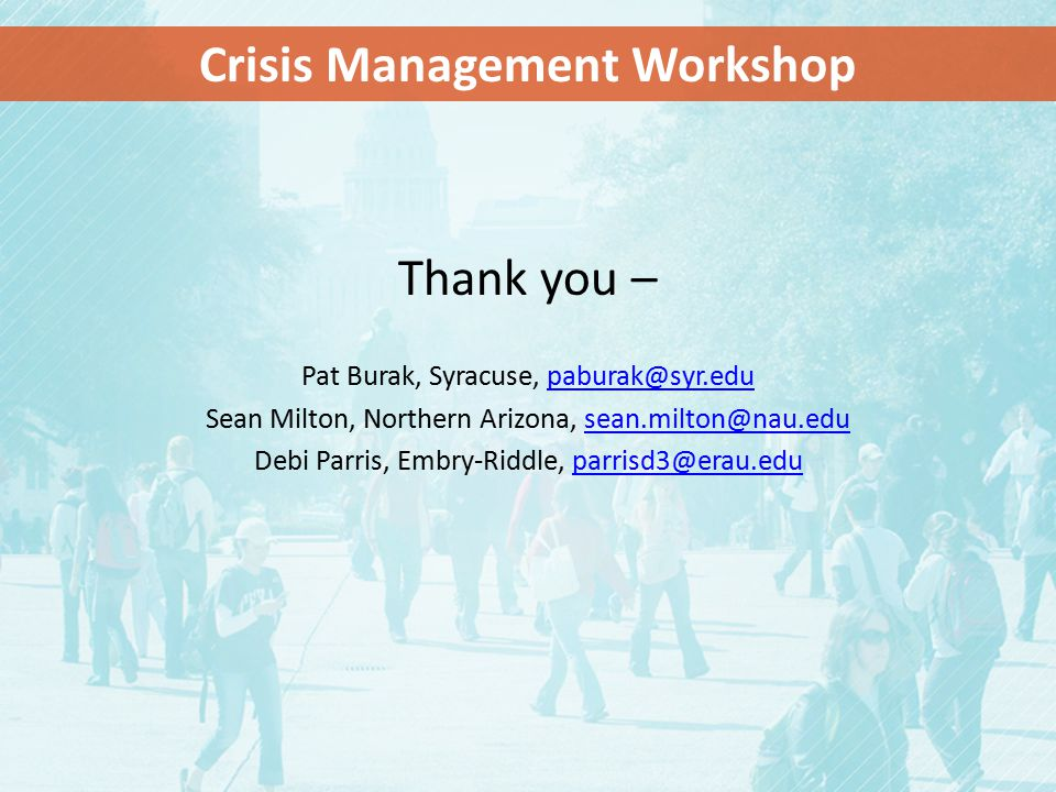 Crisis Management Workshop