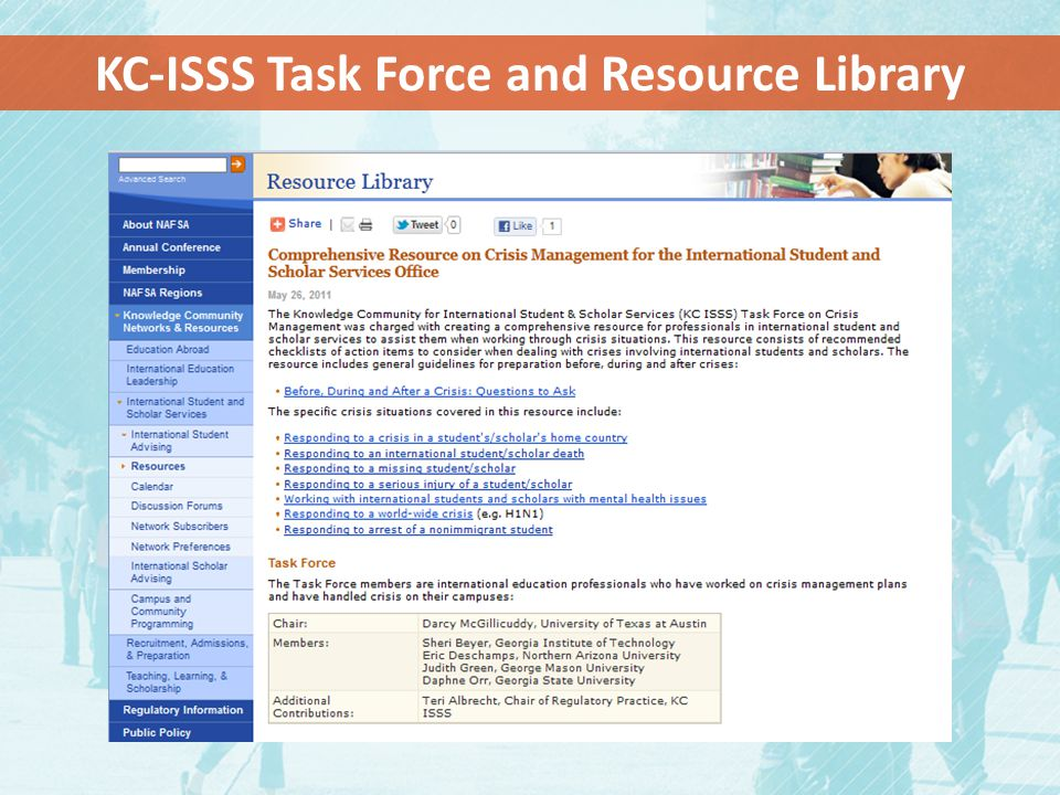KC-ISSS Task Force and Resource Library
