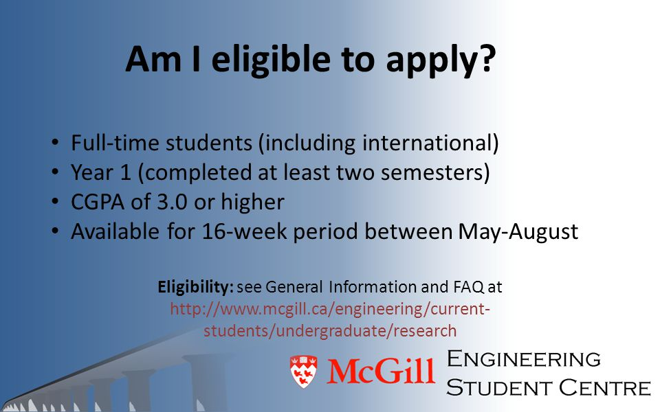 Am I eligible to apply Full-time students (including international)