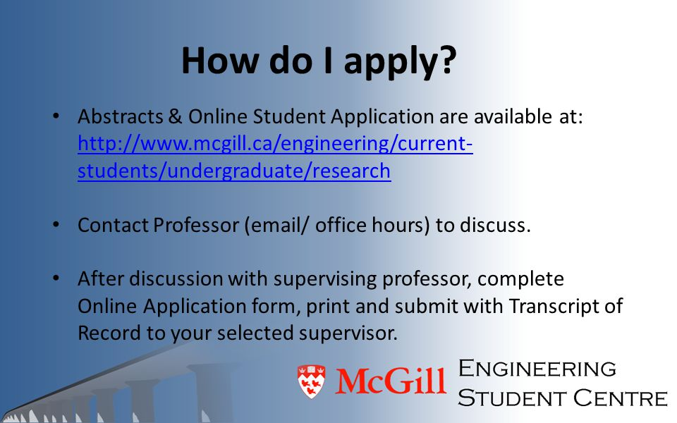 How do I apply Abstracts & Online Student Application are available at: