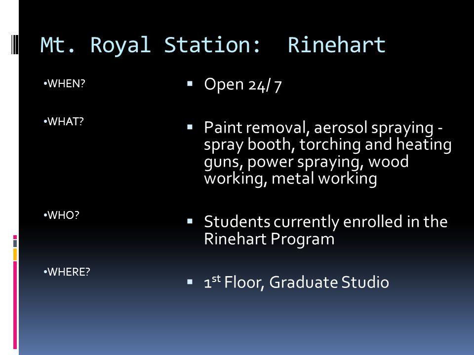 Mt. Royal Station: Rinehart