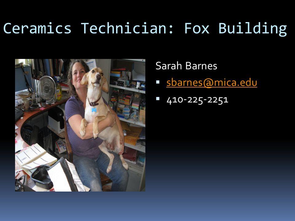 Ceramics Technician: Fox Building