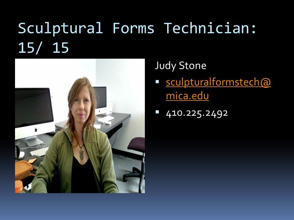 Sculptural Forms Technician: 15/ 15
