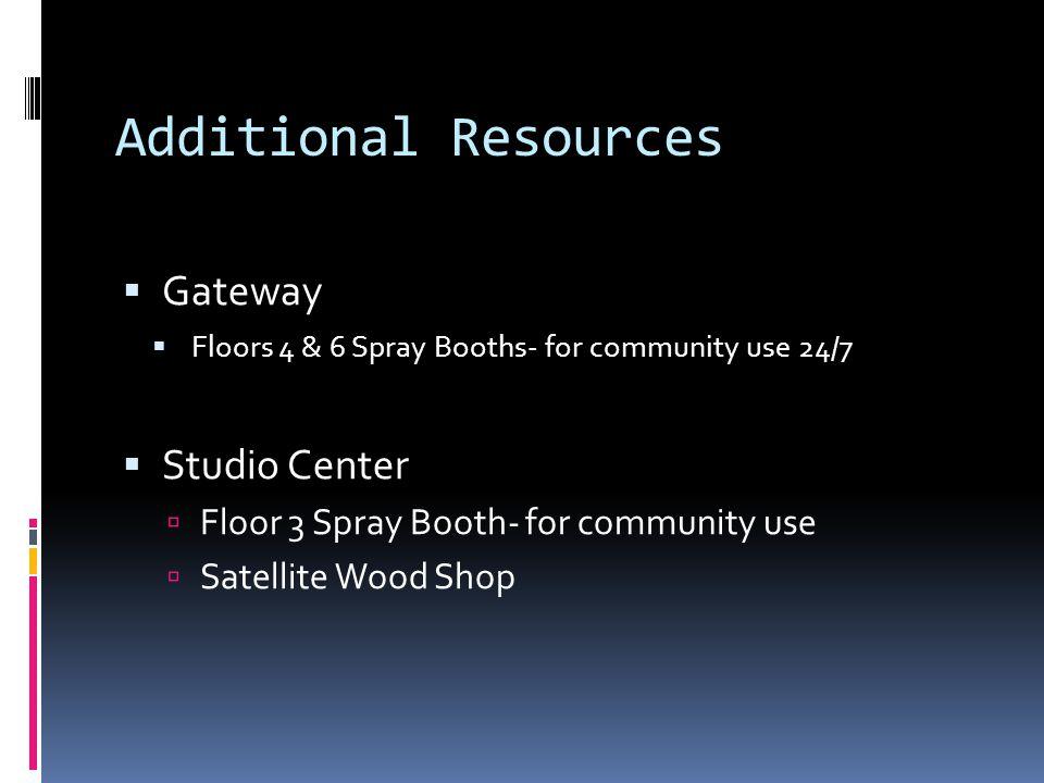 Additional Resources Gateway Studio Center