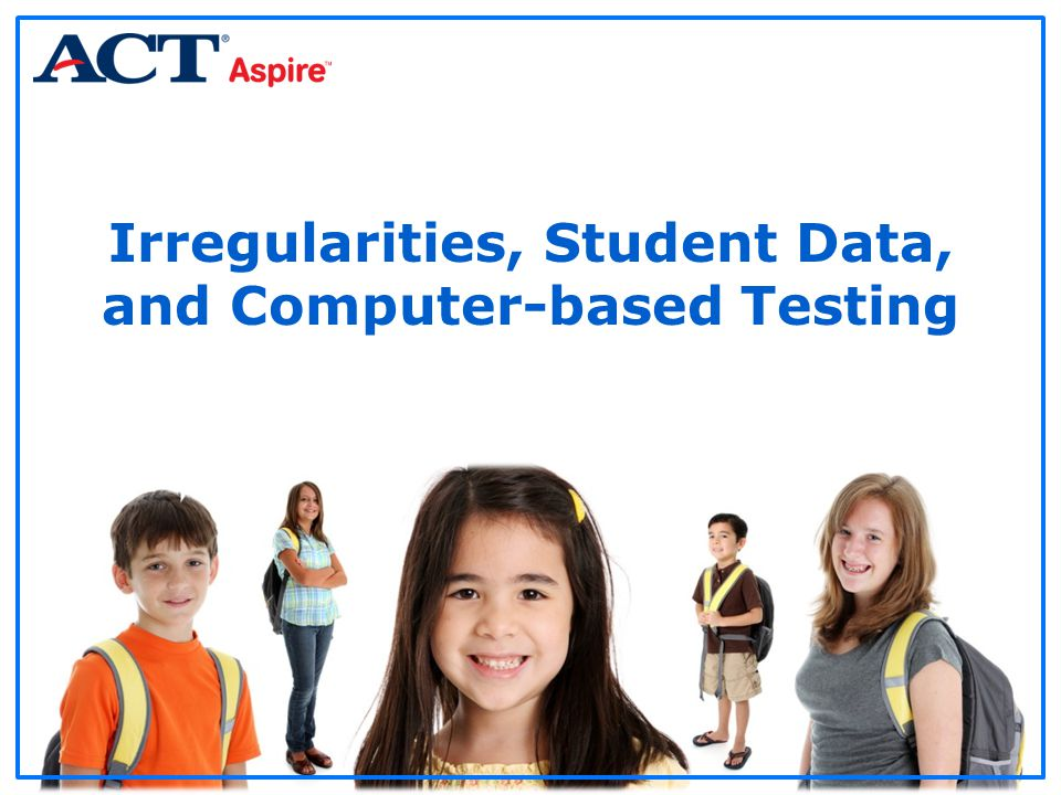 Irregularities, Student Data, and Computer-based Testing