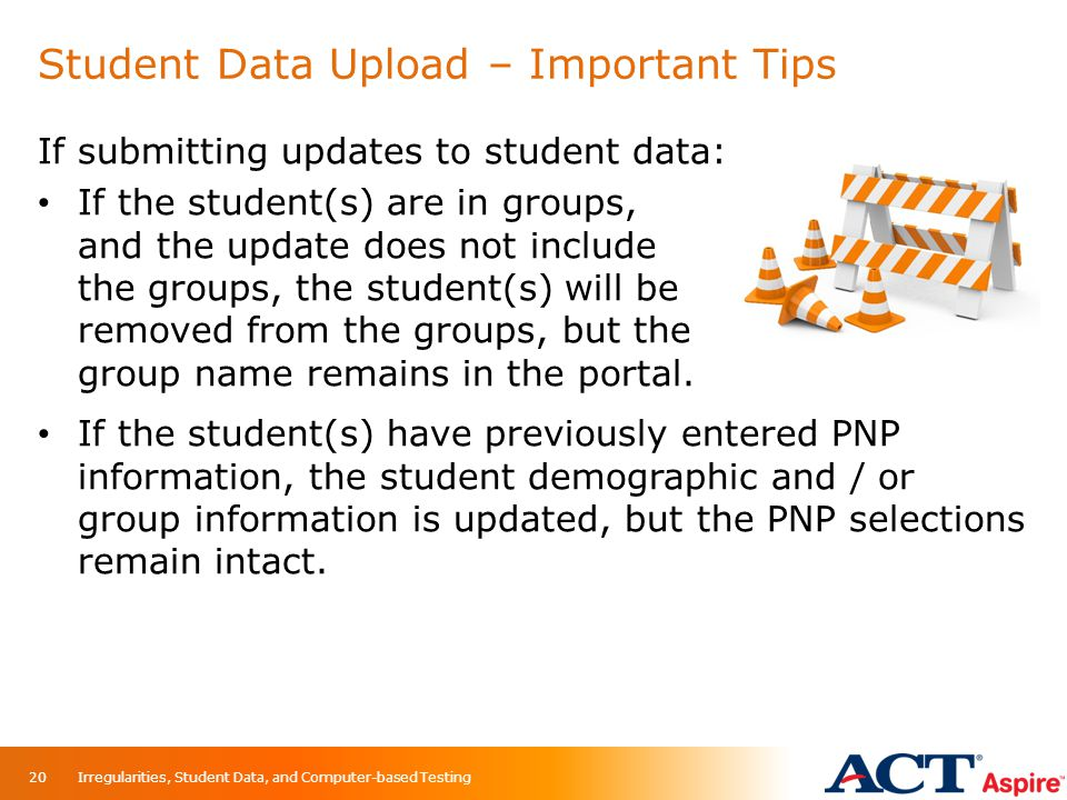 Student Data Upload – Important Tips