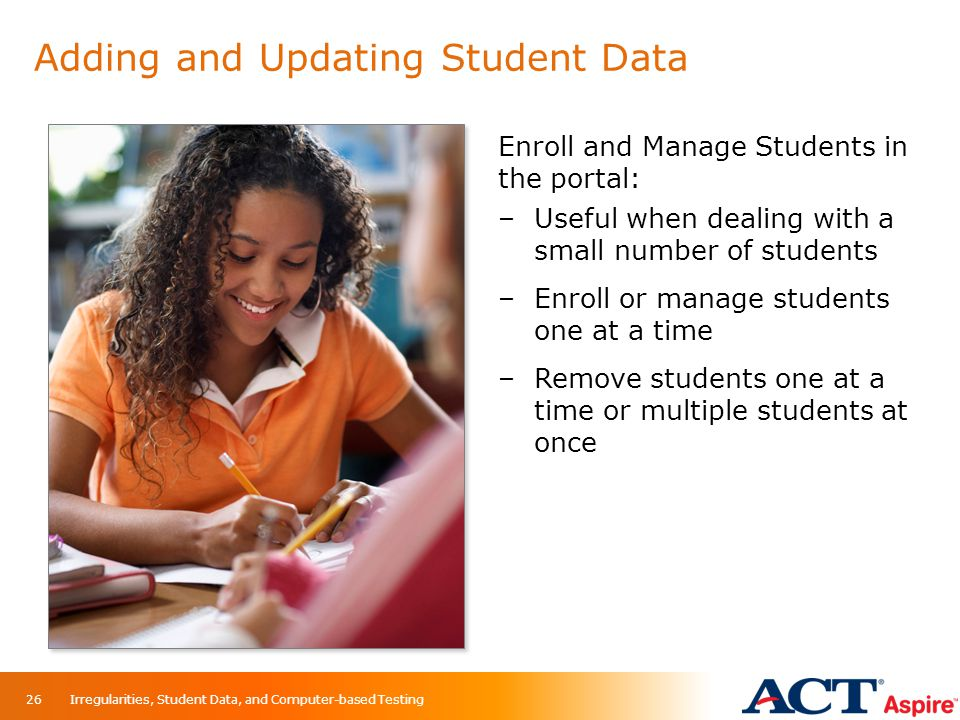 Adding and Updating Student Data