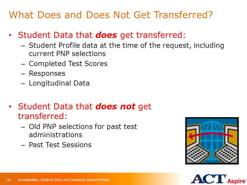 What Does and Does Not Get Transferred