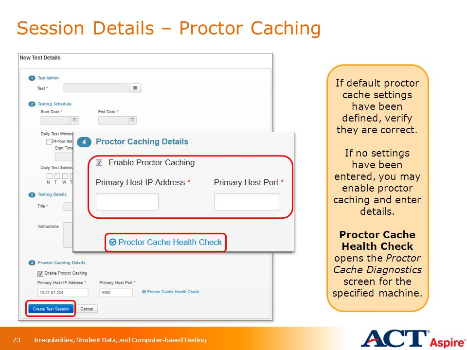 Session Details – Proctor Caching