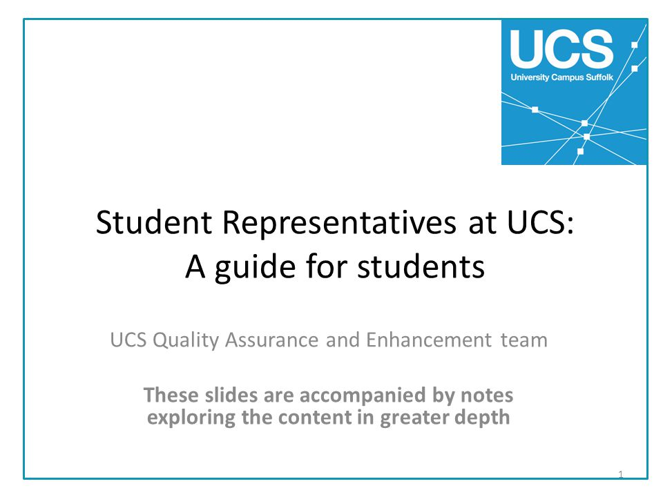 Student Representatives at UCS: A guide for students