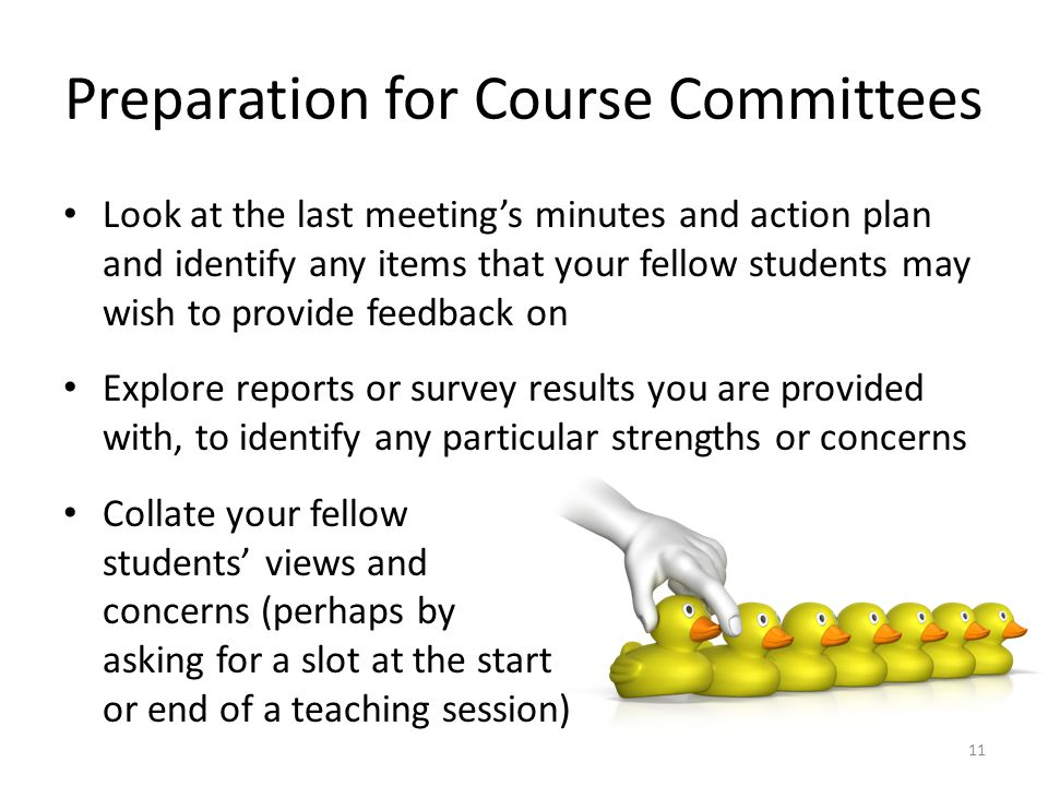 Preparation for Course Committees