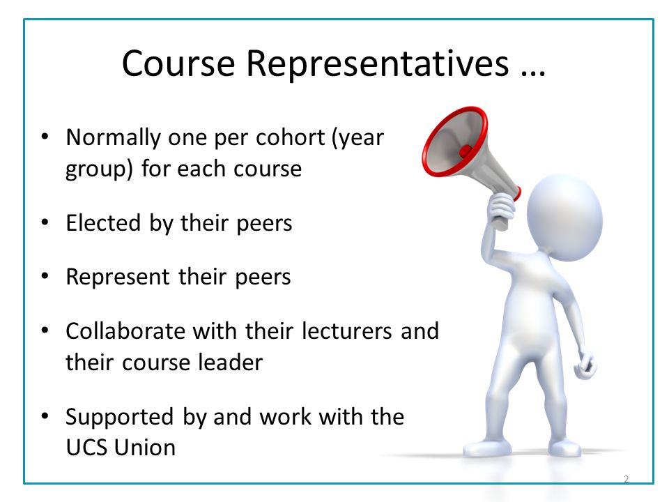 Course Representatives …