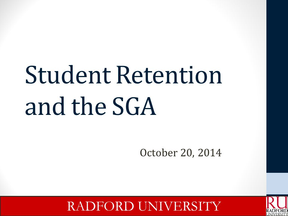 Student Retention and the SGA