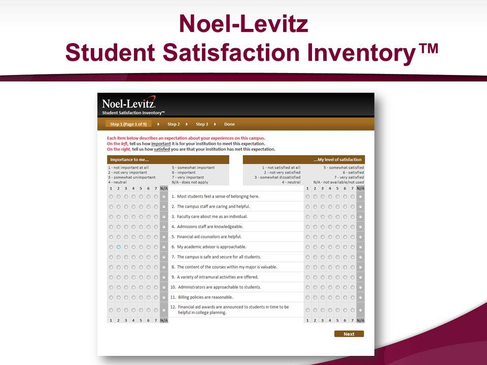 Noel-Levitz Student Satisfaction Inventory™