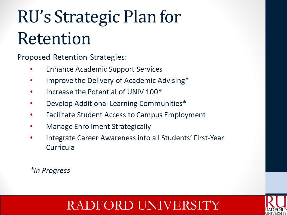 RU's Strategic Plan for Retention