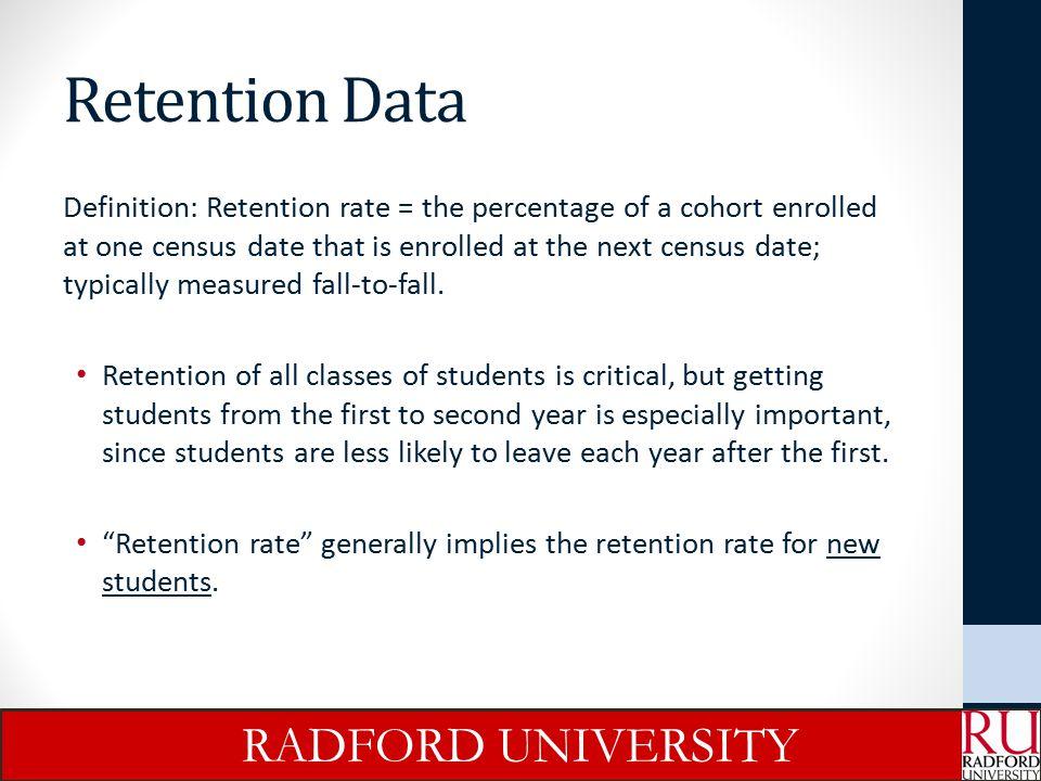 Retention Data RADFORD UNIVERSITY