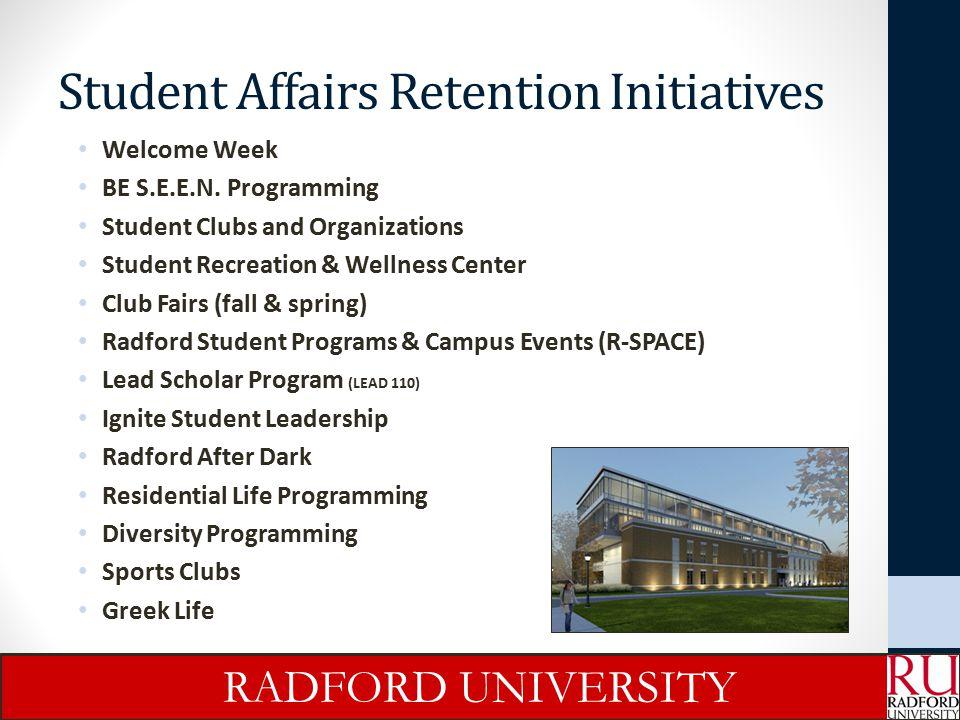 Student Affairs Retention Initiatives