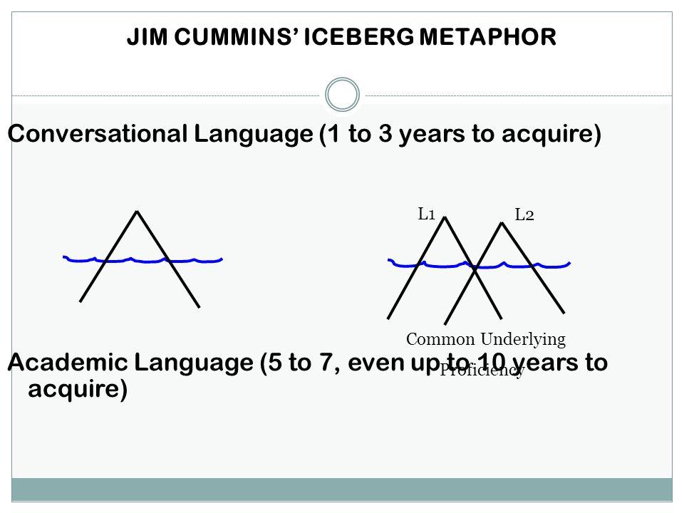 JIM CUMMINS' ICEBERG METAPHOR