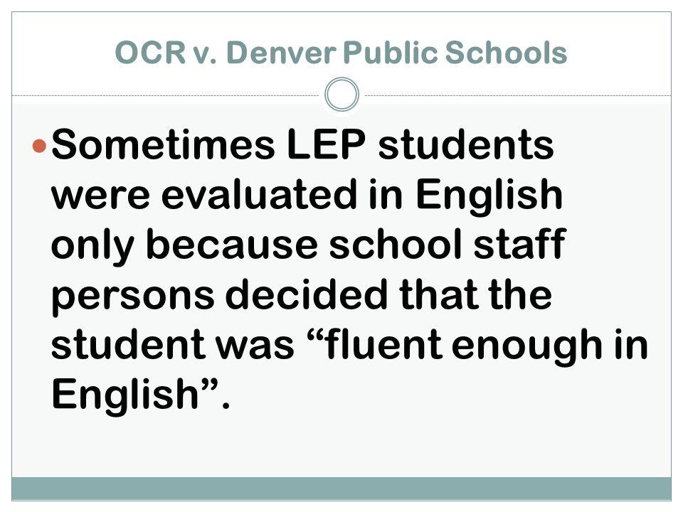 OCR v. Denver Public Schools