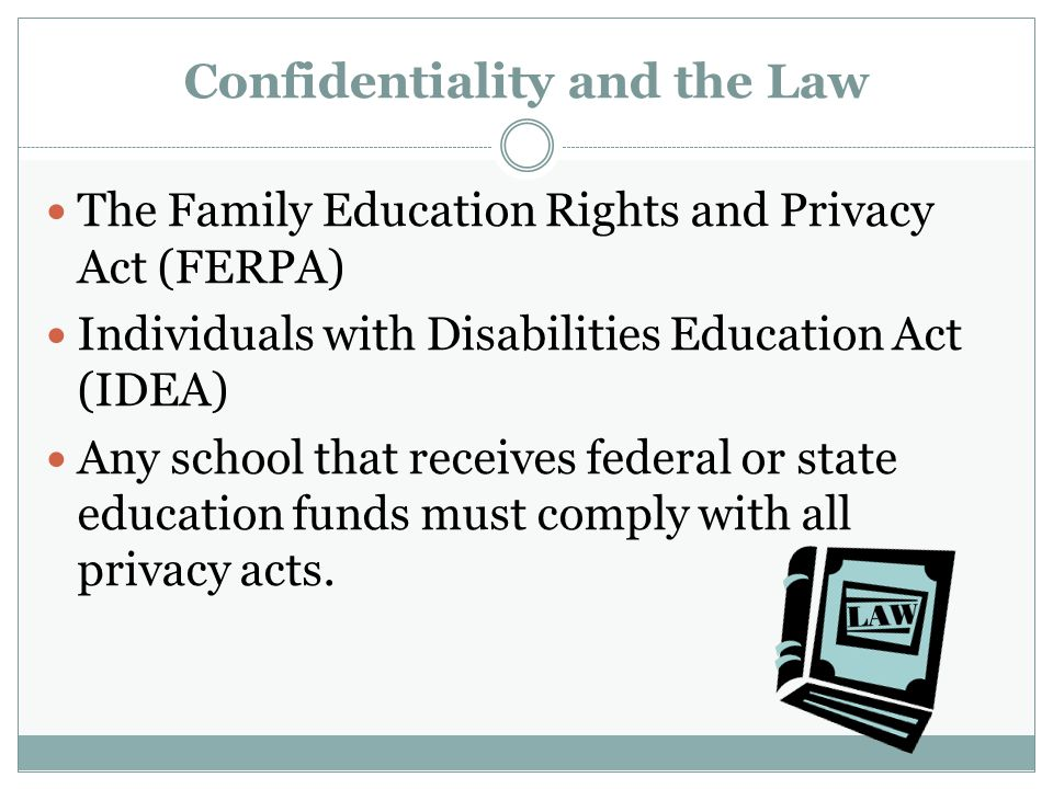 Confidentiality and the Law