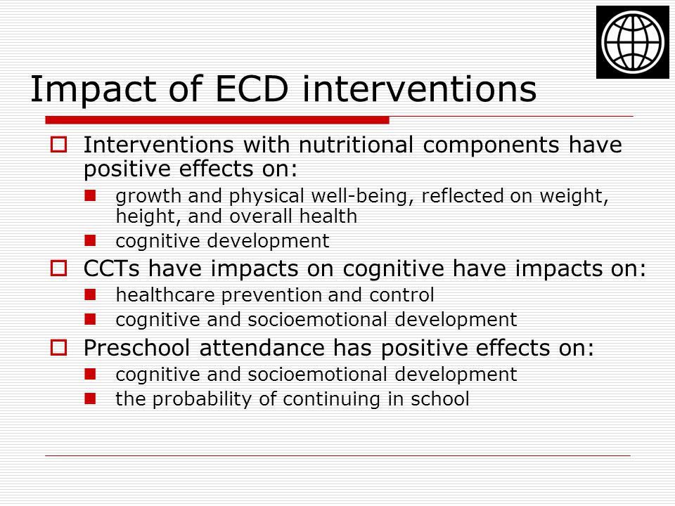 Impact of ECD interventions