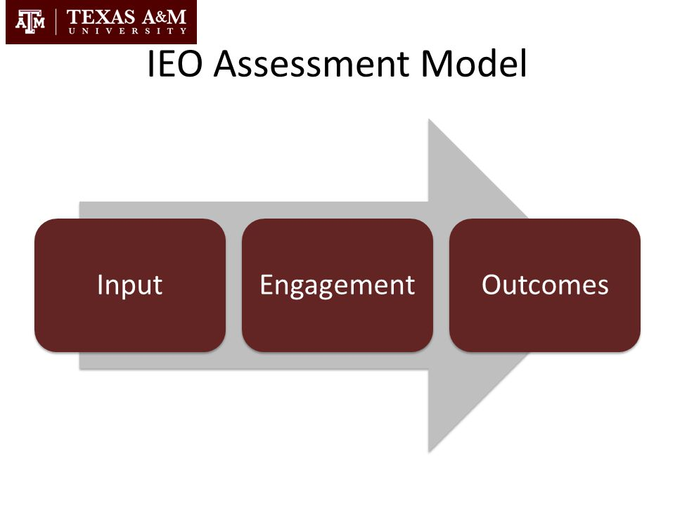 IEO Assessment Model Input Engagement Outcomes