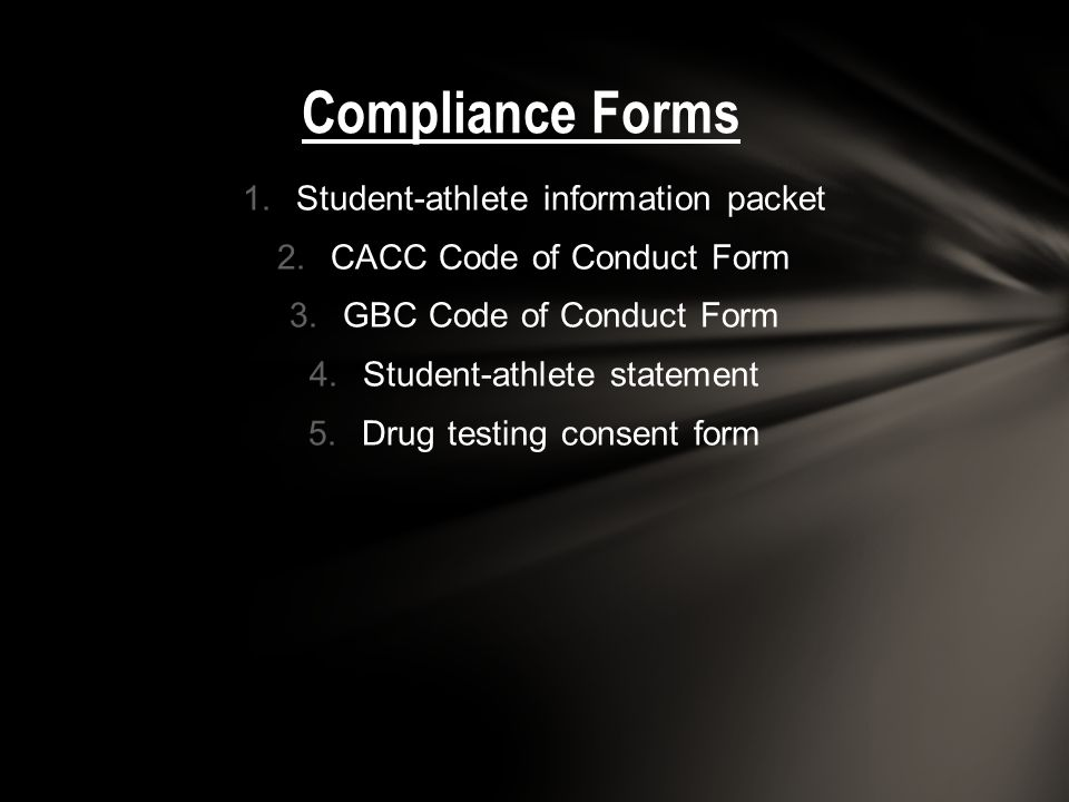 Compliance Forms Student-athlete information packet