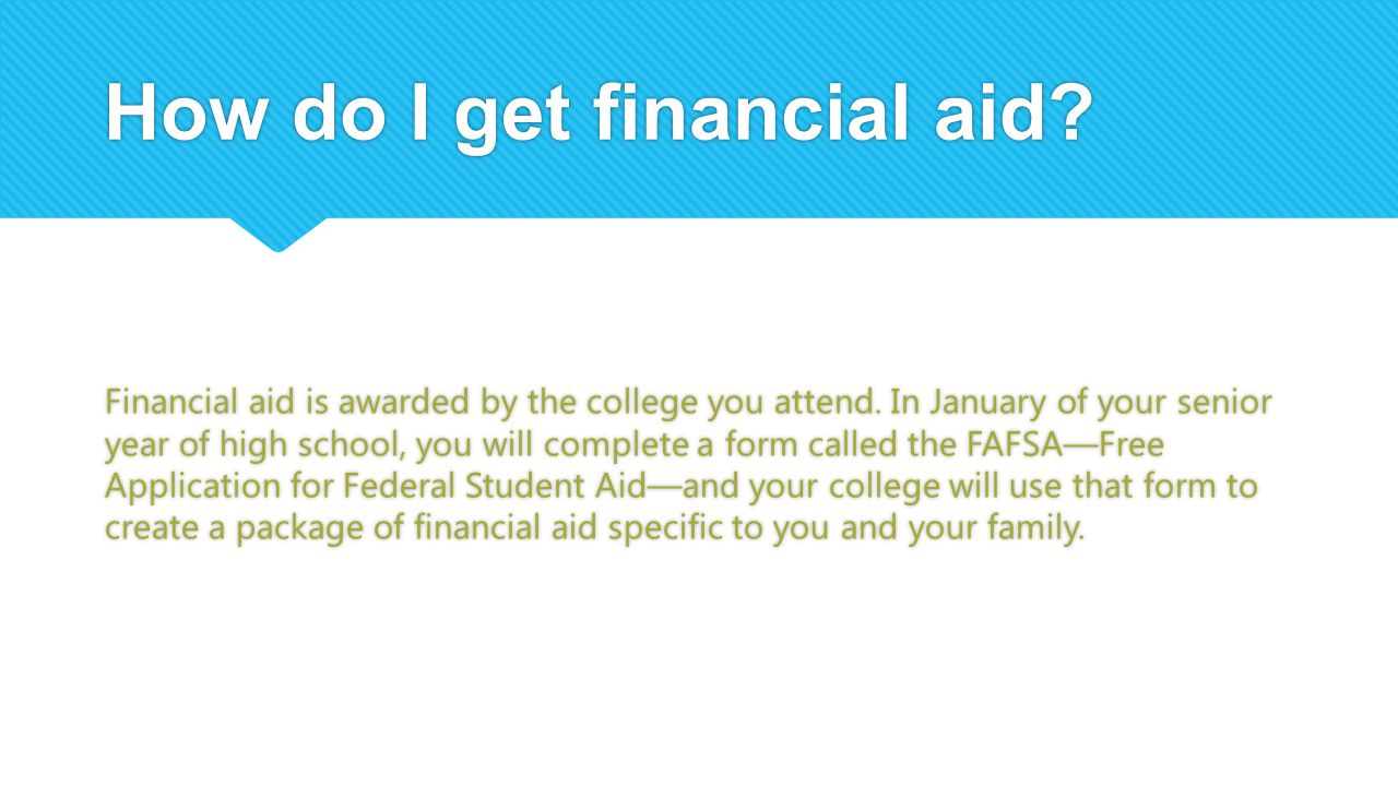 How do I get financial aid
