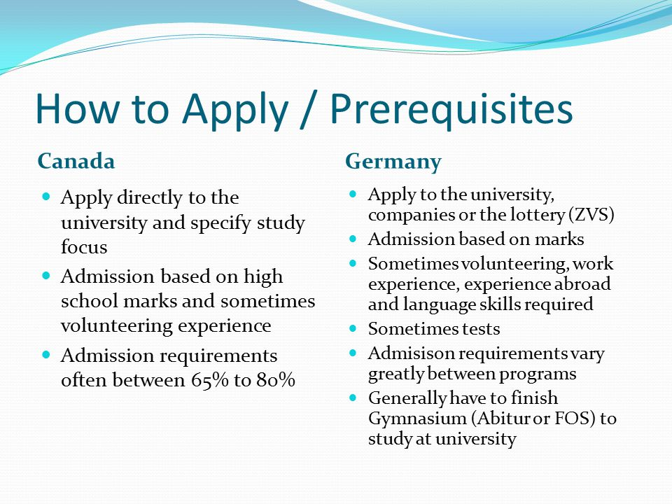 How to Apply / Prerequisites