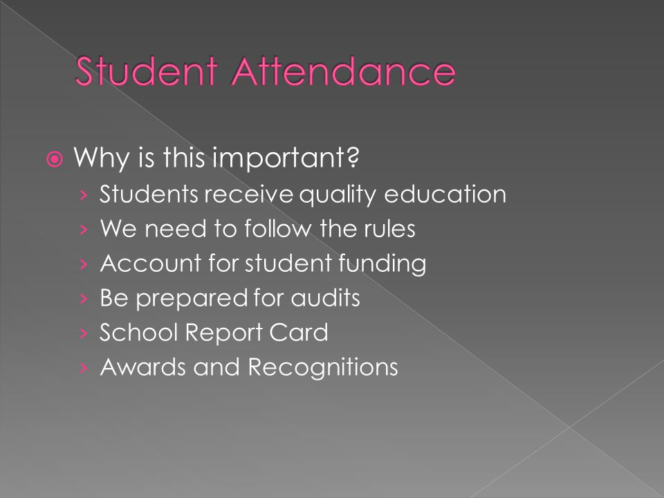 Student Attendance Why is this important