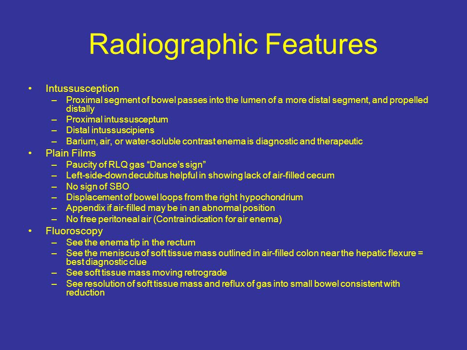 Radiographic Features