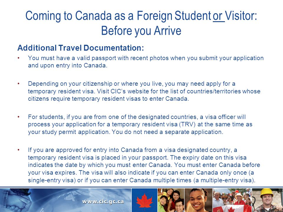 Coming to Canada as a Foreign Student or Visitor: Before you Arrive