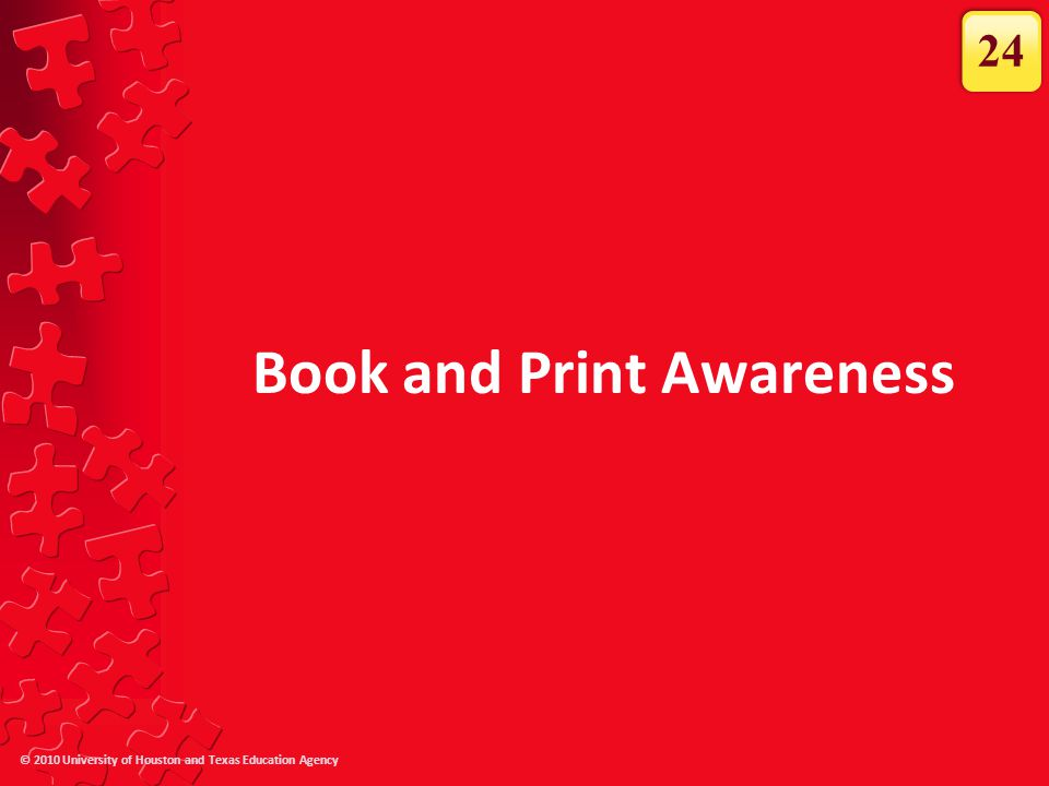 Book and Print Awareness