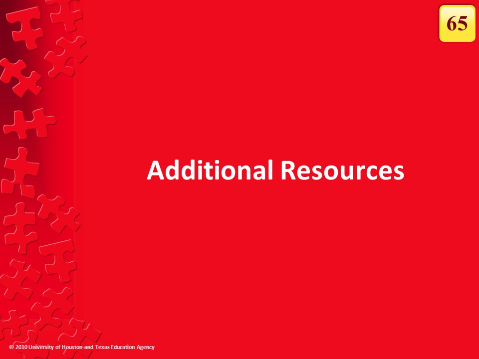 65 Additional Resources