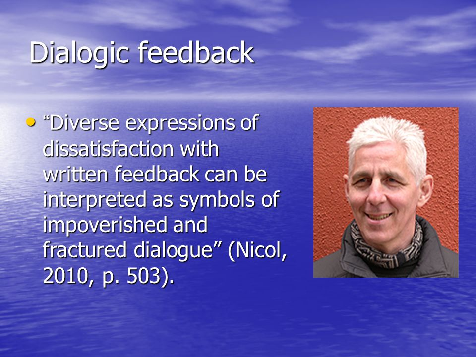 Dialogic feedback