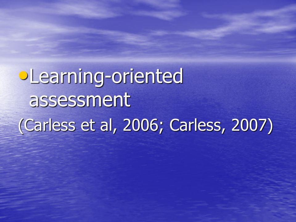 Learning-oriented assessment