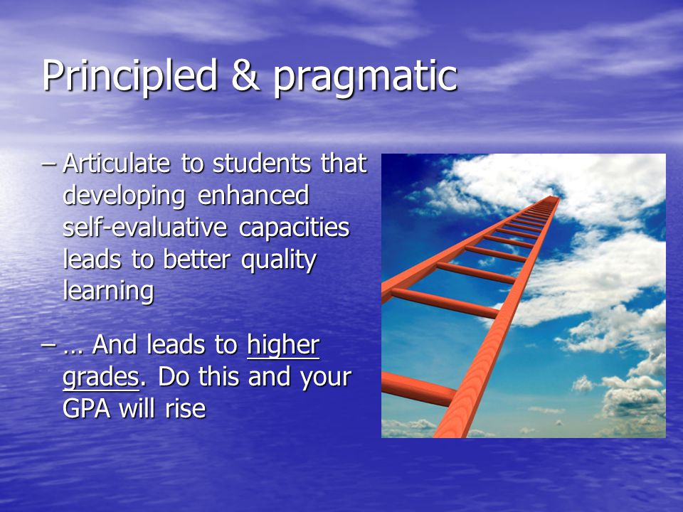 Principled & pragmatic