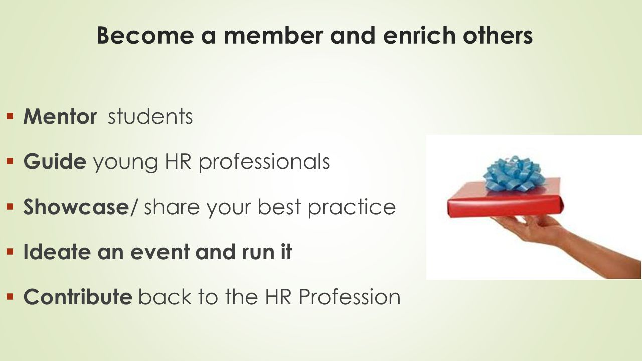 Become a member and enrich others