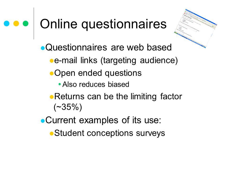 Online questionnaires