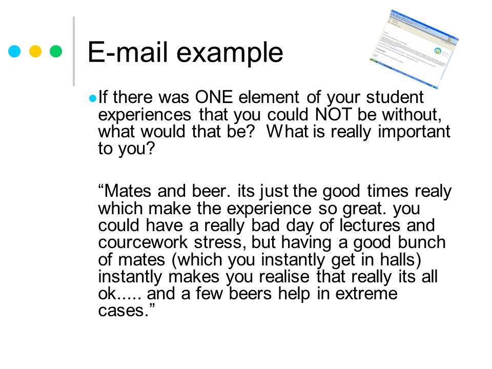 E-mail example