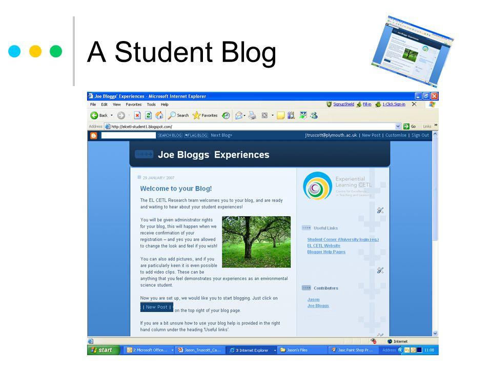 A Student Blog