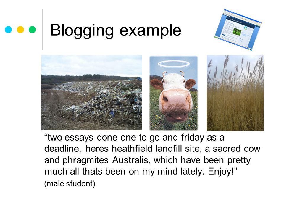 Blogging example