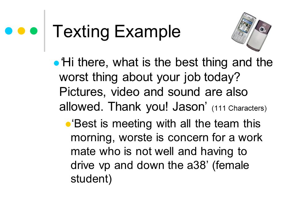 Texting Example