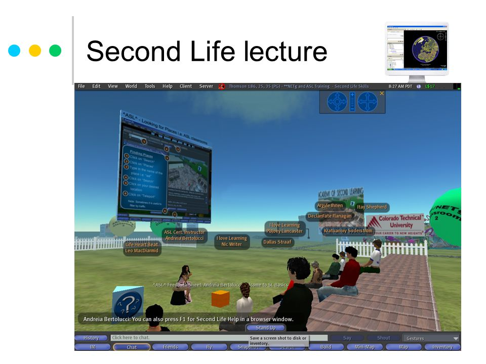 Second Life lecture
