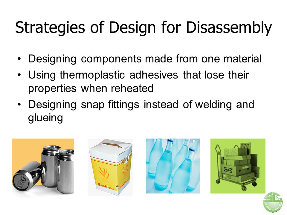 Strategies of Design for Disassembly