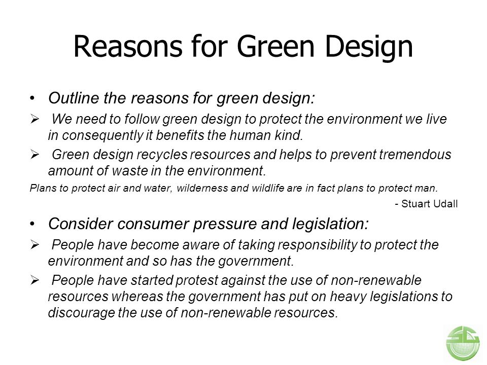 Reasons for Green Design
