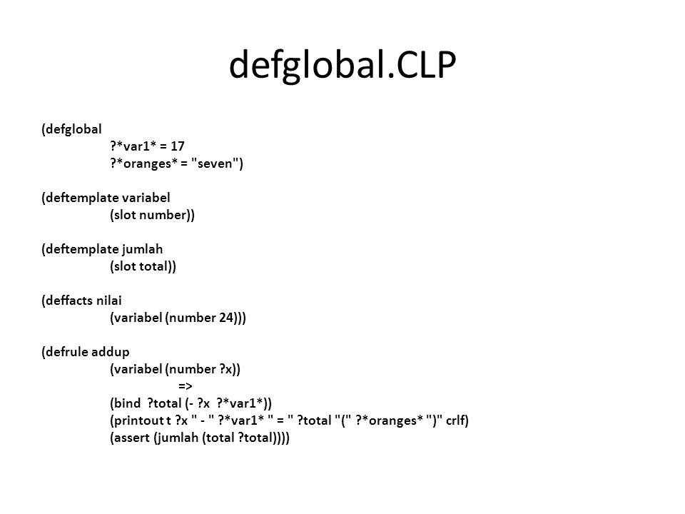 defglobal.CLP