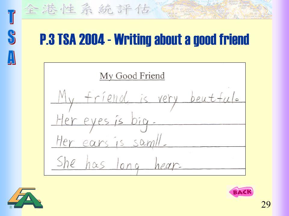P.3 TSA 2004 - Writing about a good friend