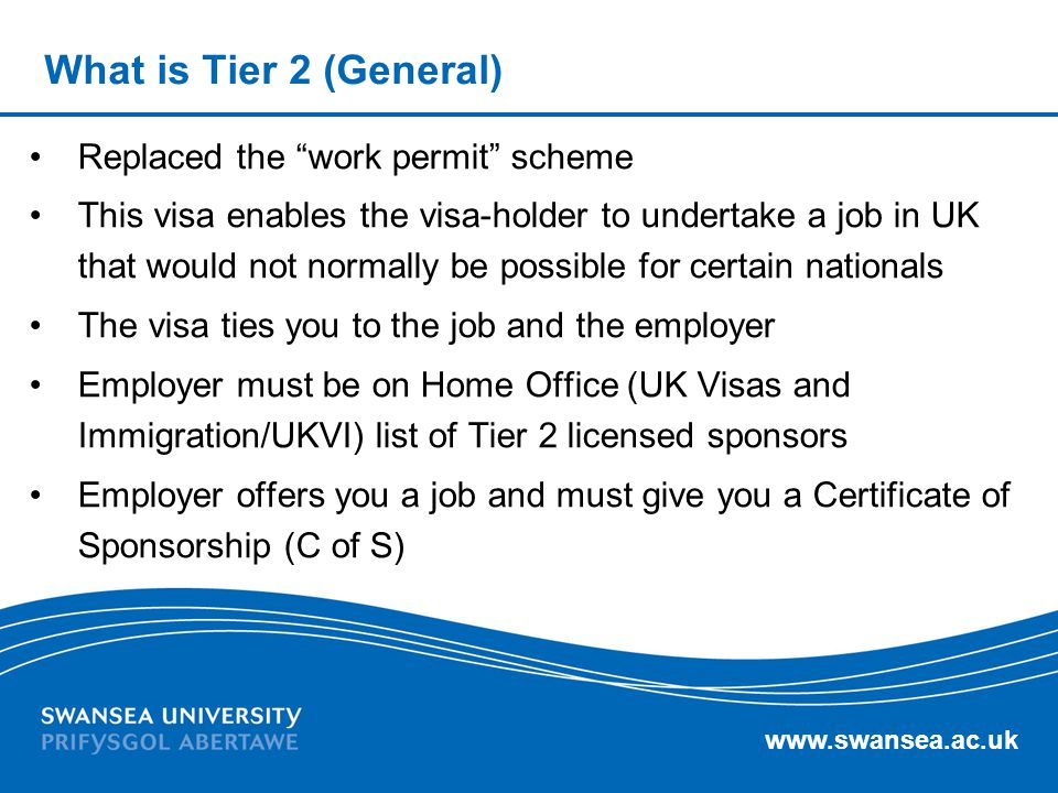 What is Tier 2 (General) Replaced the work permit scheme