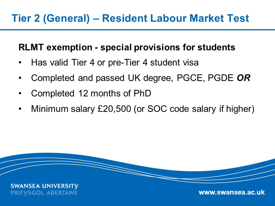 Tier 2 (General) – Resident Labour Market Test